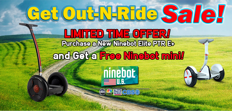 Buy an Elite PTR E+ and get a FREE Ninebot Mini!