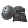 Don't forget to get your safety gear! Includes: Helmet, Knee Pads, Elbow Pads, and Wrist/Palm Pads